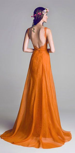 Gorgeous Special Collection Of Evening Gowns--Love the color...I wish I could wear this color, but orange washes me out.  *Trisha