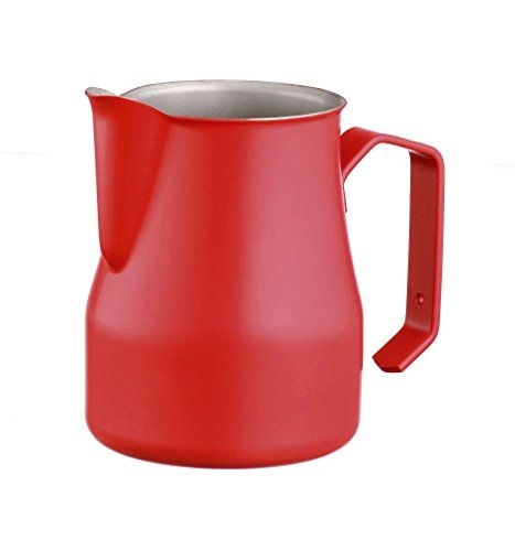 Motta 35cl Stainless Steel Professional Milk Pitcher 118 Fluid Ounce Red -- Details can be found by clicking on the affiliate link Amazon.com.