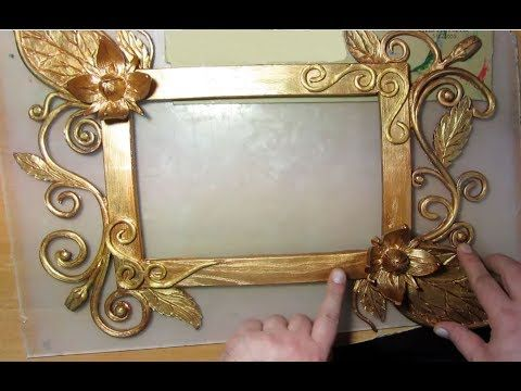 Рамка под бронзу для фото своими руками - YouTube