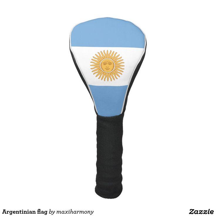 Argentinian flag golf head cover