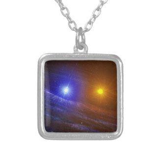 White dwarf and nova star pendant necklace