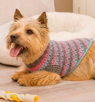 Red Heart Crochet Dog Sweater Pattern (FREE)