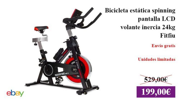 Bicicleta estática spinning regulable pantalla LCD volante inercia 24kg -Fitfiu  #DeporteYAireLibre ✏  #Ebay #BicicletaEstatica https://vdg.fun/1F