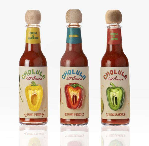 Cholcula hot sauce #packaging PD