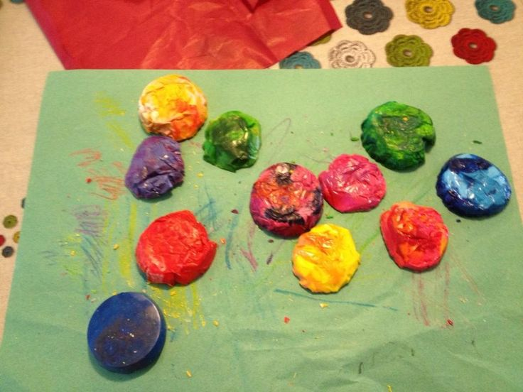 Homemade wax crayons - perfect for toddlers