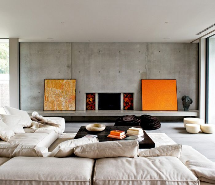 My wife absolutely loves concrete walls like this, so I have to figure out how to build one in such a way that we maintain thermal efficiency.  I'm thinking, interior shared wall (rather than exterior wall.)  I agree, there is something very alluring about raw concrete walls like this.