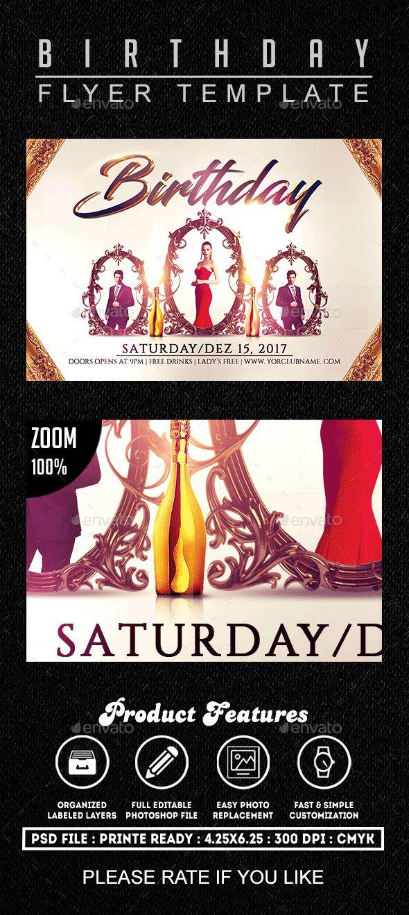 Best 25+ Birthday flyer ideas on Pinterest Psd flyer templates - birthday flyer template