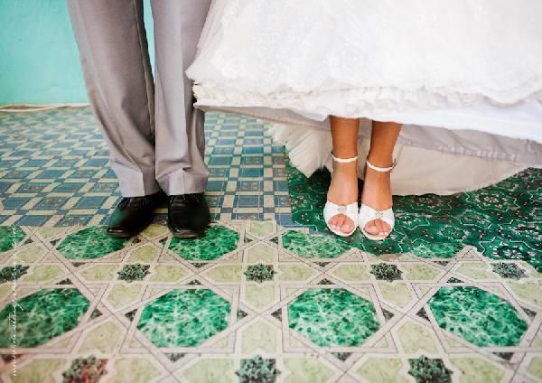 GF Bridal Couture stocks Anella's beautiful range of wedding shoes - how sweet is this photo?