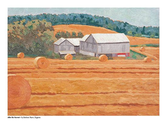 2015 Landscape Calendar | The Art Map After the Harvest by Barbara Pearn - August