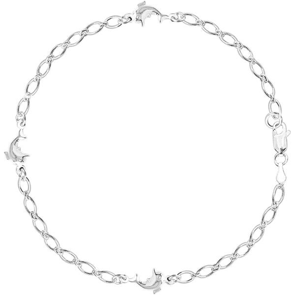 Dolphin fancy chain anklet in sterling silver (170 AUD) ❤ liked on Polyvore featuring jewelry, dolphin jewelry, sterling silver jewellery, fancy jewelry, anklet jewelry and sterling silver dolphin jewelry