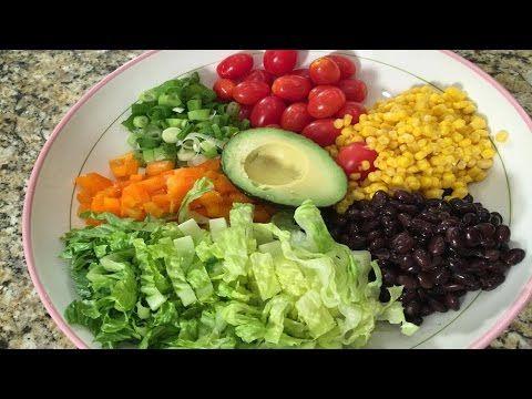 southwestern chopped salad - YouTube