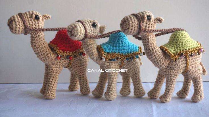 вязаный верблюд амигуруми крючком схема видео