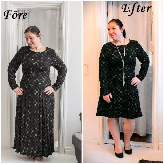 Refashion, how to shorten a dress