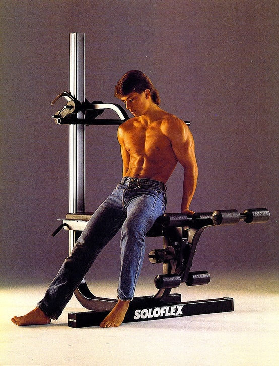 Soloflex Poster Circa 1985 Fitness Back Machine