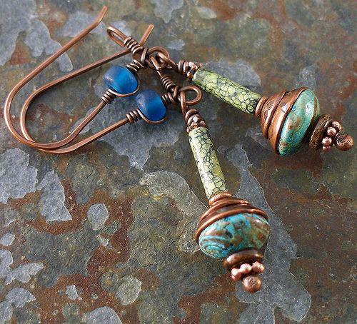 serpentine and blue sky earrings 001   Flickr - Photo Sharing!