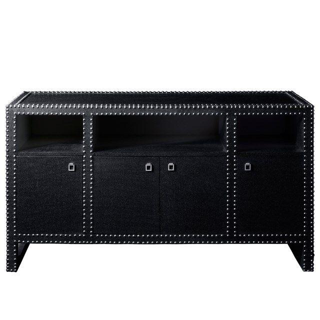 BLACK BEAUTY! Bungalow 5 Marco Black Cabinet found on Layla Grayce #laylagrayce #bungalow5 #black #orange