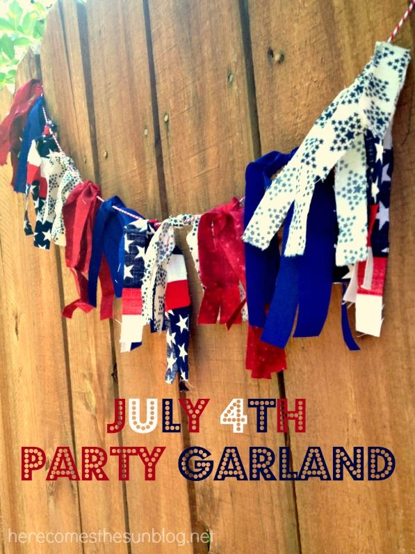 Easy July 4th Party Garland!
