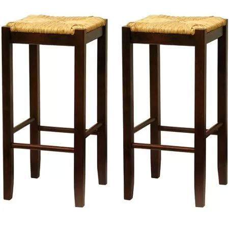 Wonderful ... Of 2 In Antique Walnut From Wal Mart Costs Only $50 For The Set And Is  Similar In Style And Look To The Napoleon Backless Bar Stools From Pottery  Barn ...