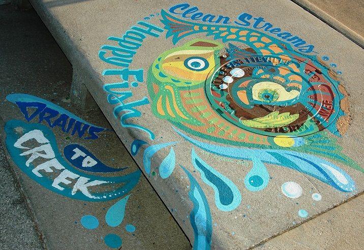 Upstream Art Storm Drain Mural Walking Tour Fayetteville