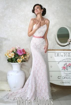 цветное свадебное платье с открытой спиной