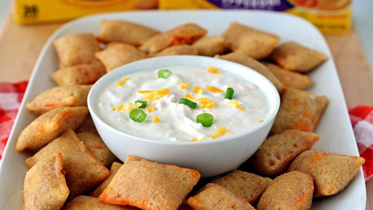 This 5-minute easy, cheesy dip is perfect for dunking your favorite flavor of Totino's™ Pizza Rolls™.