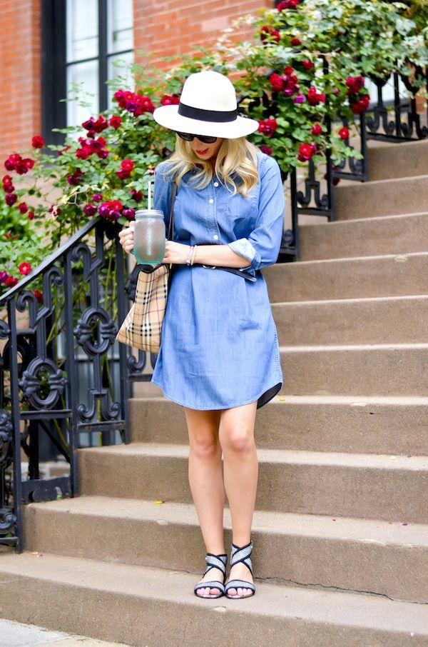 Chambray Shirtdress