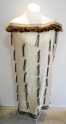 Garry Grace Kura Gallery Maori Art Design New Zealand Weaving Korowai Cloak Weka Feathers Hukahuka Taniko