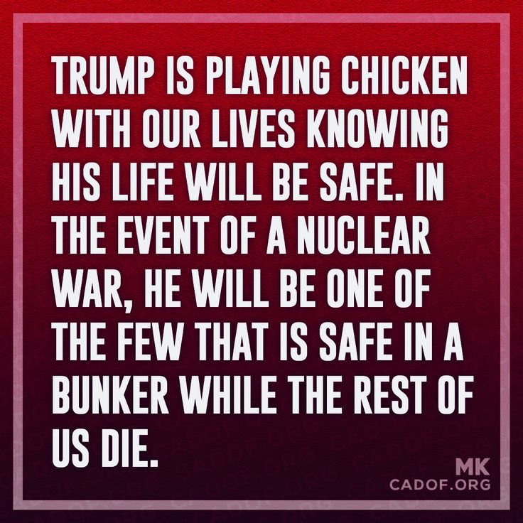 Exactly. Even if we are not near blast zones, the fallout from even one bomb in DC could effect damn near the entire US.