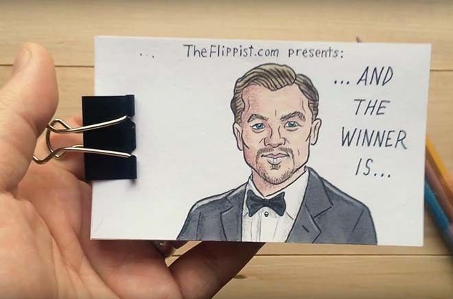 Leonardo DiCaprio Oscar Flipbook Animation http://viralselect.com/leonardo-dicaprio-oscar-flipbook-animation/  #Art #Comic #Flipbook #Leo #Leonardo #Oscar #Oscars #ViralVideo
