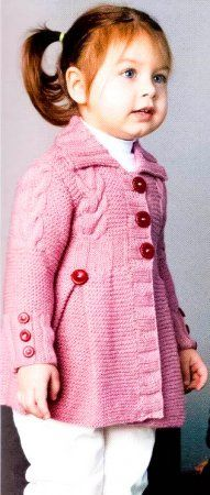 Knitted coat for girls