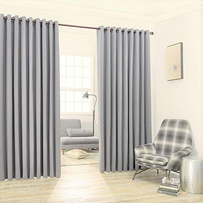 Warm Home Designs Extra Large 2 Light Grey Wall To Wall Curtains 108 X120 Each With 2 Matching Tie Backs Total Width Grey Walls Light Grey Walls Black Walls