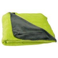 Flanell Fleece Decke Kuscheldecke Flauschdecke Double Face grün grau 150x200cm
