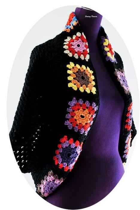 Crochets: Granny Square Shrug