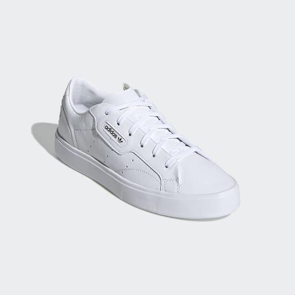 arroz límite Joven  adidas Sleek Vegan Shoes - White | adidas UK | Vegan shoes, Shoes, White  adidas