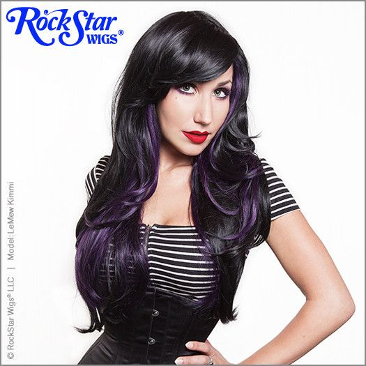 23 best hair extensions wigs etc images on pinterest make up rockstar wigs downtown girl collection black violet pmusecretfo Images