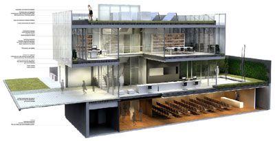 ARQUIMASTER.com.ar | Proyecto: Proyecto Nuevo Auditorio y Dependencias Administrativas CAPBA 5 Luján - Arqs. Fernando Vignoni y Natalia Colosía (2º Premio en concurso) | Web de arquitectura y diseño