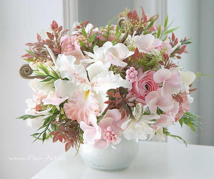 Композиции : Цветы из глины. Pink Vanilla - Fito Art