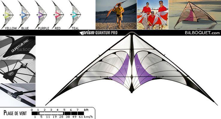 Quantum Pro Prism Kites - Cerfs-volants pilotables 2 lignes - Cerf-volant acrobatique - Prism Kites - 375€ - Frais de port offerts