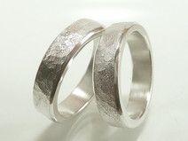 Eheringe Paar aus Silber Freundschaftringe