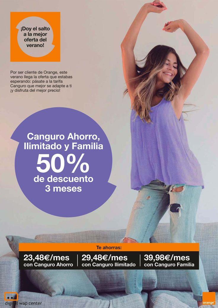 Pásate a la tarifa Canguro que mejor se adapte a ti, consulta en nuestras Tiendas Orange antes del 31/08.