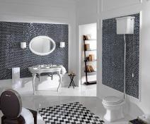 Černobílá retro koupelna je moooc zajímavá.