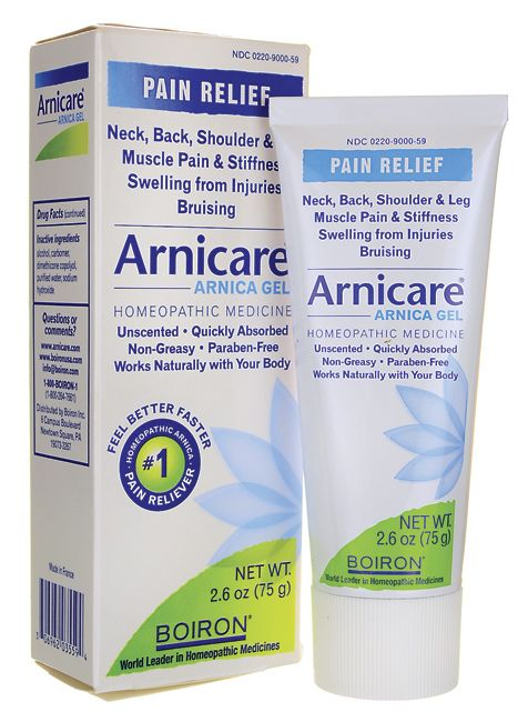 Arnicare Arnica Gel...this has the most amazing healing impact on a bad knee. The doc, steroids, prescribed anti-inflammatories did not heal my severe knee pain after soft tissue injury....four months of pain. A fellow dancer suggested this, to my amazement...pain was gone in 48 hours. I'm hooked.