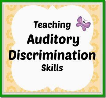 Teaching Auditory Discrimination