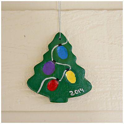 Family fingerprint salt dough ornament idea