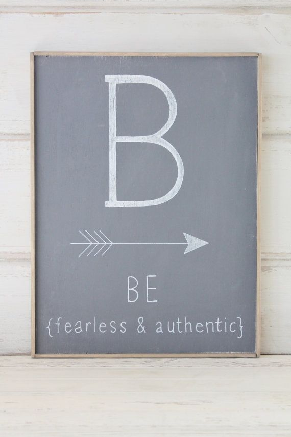 Be Fearless & AuthenticRustic Wood Sign by cityfarmhouse on Etsy, $45.00
