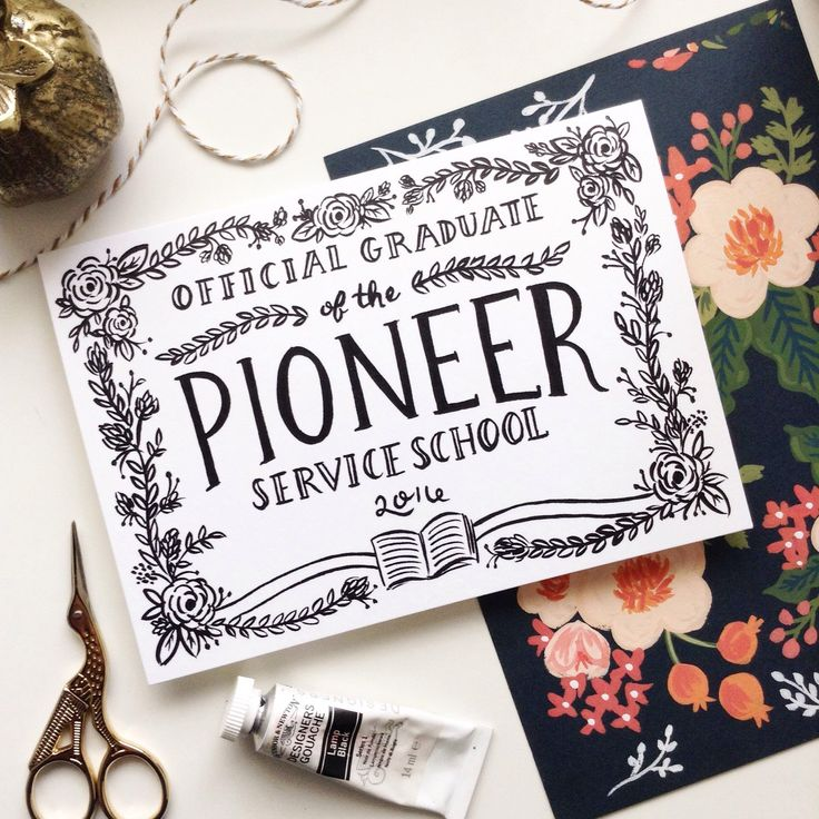 Pioneer Service School graduation cards are finally up!