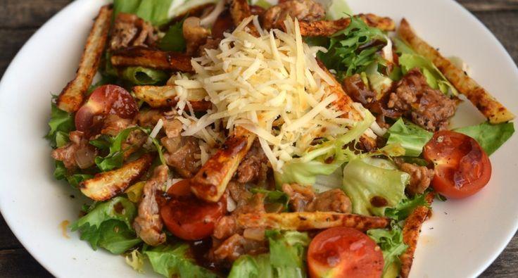 """""""Sajtburger"""" saláta recept: Szuperfinom, és laktató saláta ebédre, vagy vacsorára. Nem diétás, de egészséges! ;) Próbáld ki Te is ezt a receptet!"""