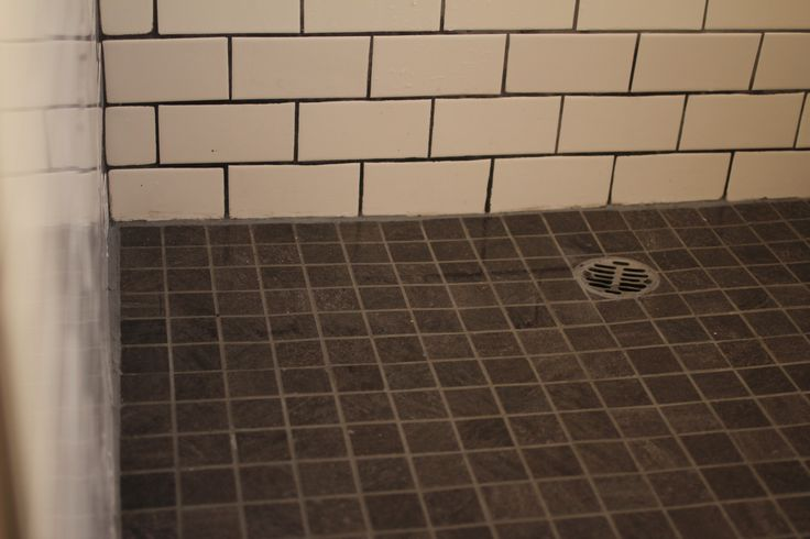 how to build a tile shower floor