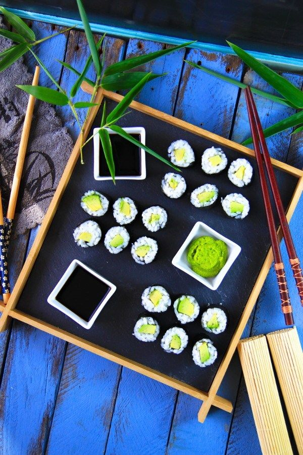 ",,SELF/HOME MADE"" Japanese  Avocado Maki Sushi - Soy Sauce - Wasabi ...."