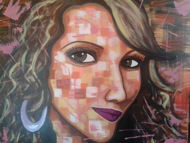 Eva by STEFANO acrylic on canvas(50x60cm) fashion art 2015 portrait,painting,paint,painter,moderpainting,art,fineart,acrylic